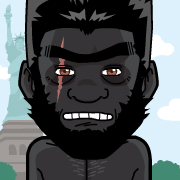 King Kong as a human